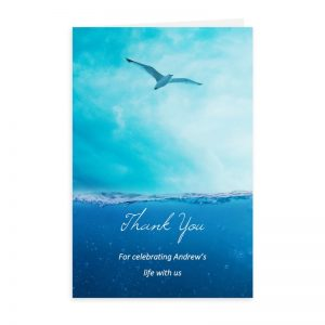 Free Word Template Thank You Card Soaring Seagull Theme