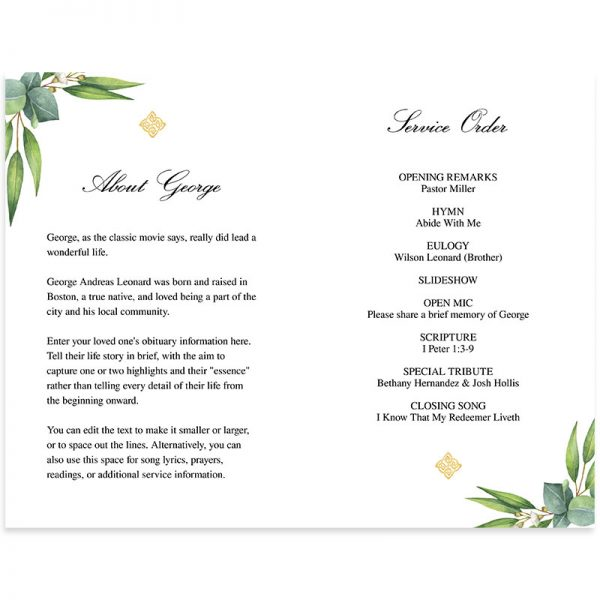 Digital Funeral Program Template (Premium)