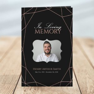 Geometric Elegance Funeral Brochure Template
