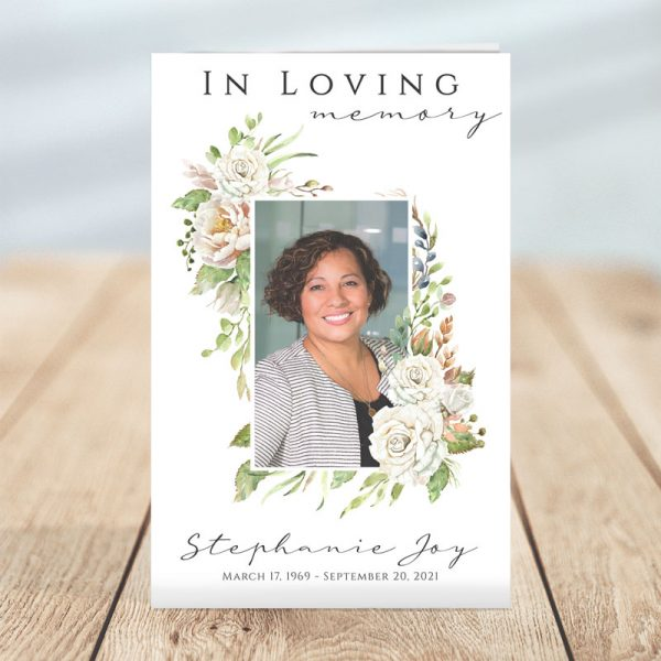 Premium Funeral Program Template (Editable)