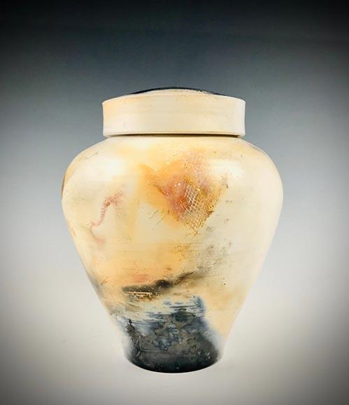 Black and Cream Pet Urn- 50 Beautiful Ceramic Urns