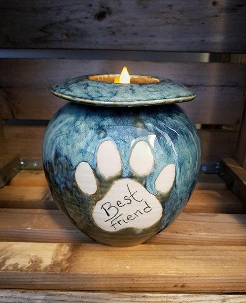 Candlelight Pet Urn- 50 Beautiful Ceramic Urns