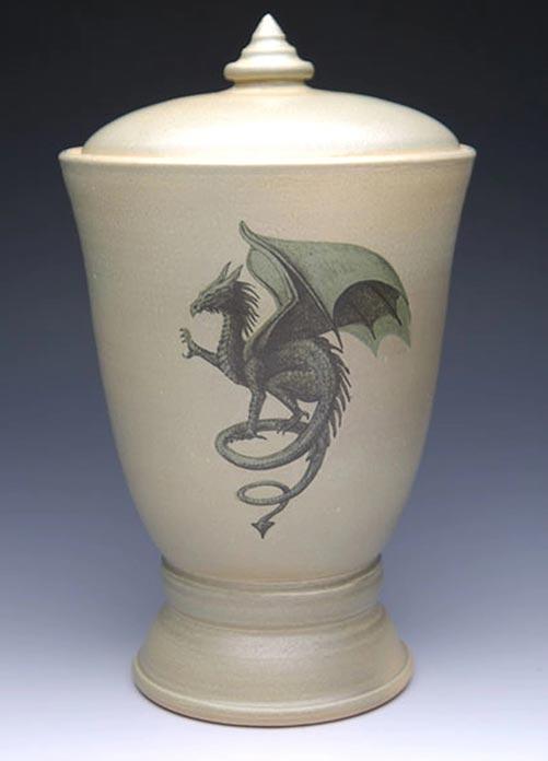 Gothic Dragon Cremation- 50 Beautiful Ceramic Urns