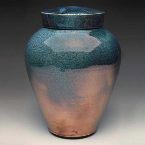 Homemade Celestial Aqua Cremation Urn- 50 Beautiful Ceramic Urns