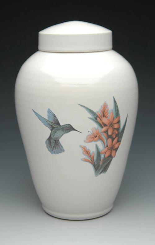 Hummingbird Color Ceramic Cremation Urn- 50 Beautiful Ceramic Urns