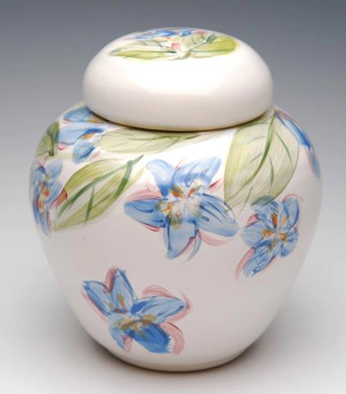 Porcelain Cremation Hand Painted Flower Urn- 50 Beautiful Ceramic Urns