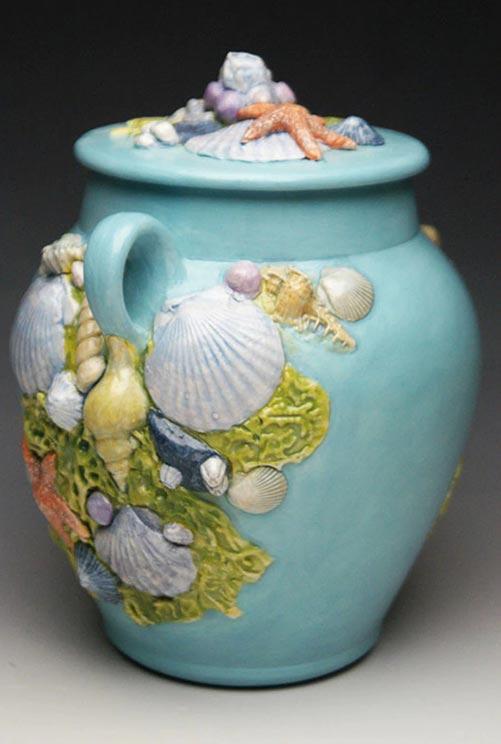 Seashell Ocean Theme Urn- 50 Beautiful Ceramic Urns