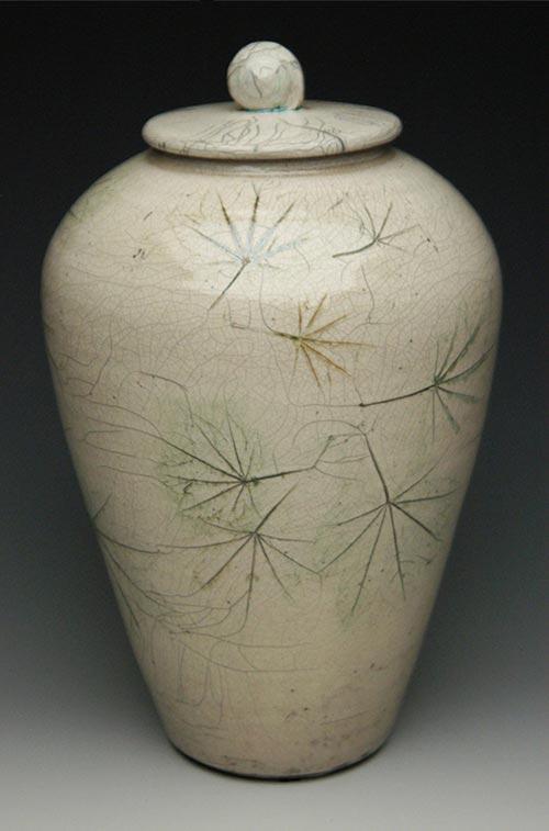 Whispering Maple Leaves- 50 Beautiful Ceramic Urns