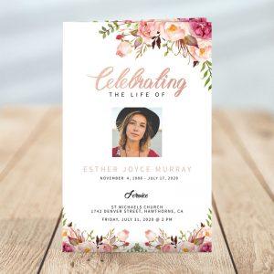 Gentle Florals: Funeral Program Templates