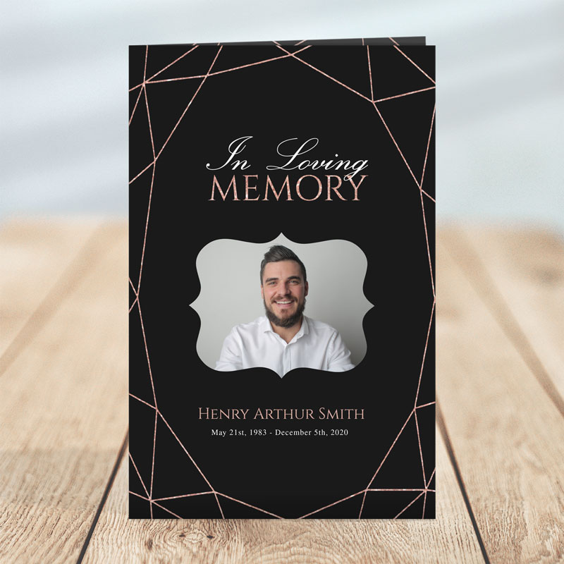 Geometric Elegance: Funeral Program Templates