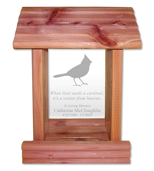 Personalized Birdhouse- What to Give in Lieu of Flowers