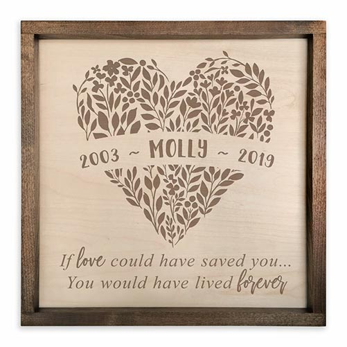 Memorial Plaque- What to Give in Lieu of Flowers
