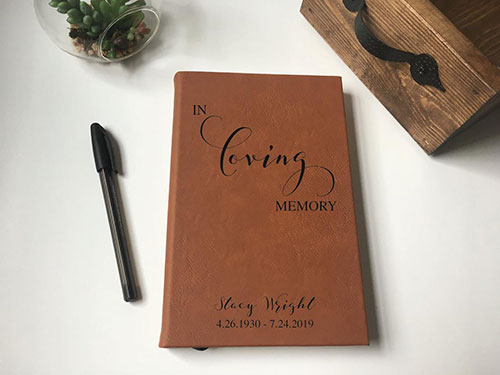 Personalized Leather Grief Journal