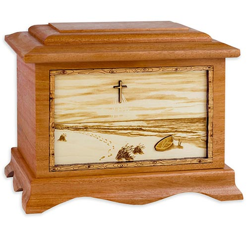 Wooden Engraved Beach Urns