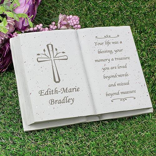 Engraved Cross Book