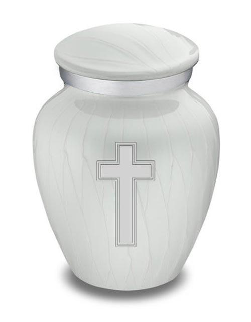Pearlescent Cross Urns