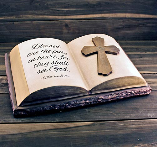 Pure In Heart Ceramic Bible