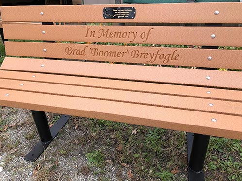 Personalized Memorial Bench
