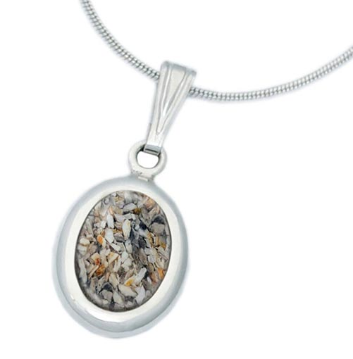 Cremation Oval Jewelry