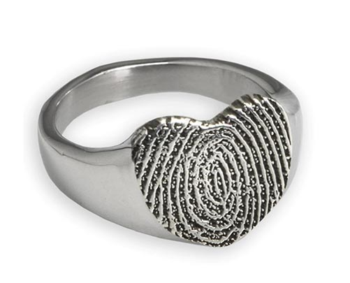 Personalized Finger Print Ring