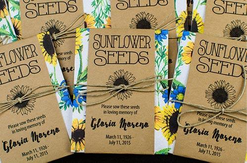 Memorial Favor Seeds