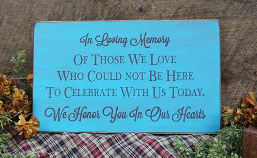 Wooden, In loving Memory Sign