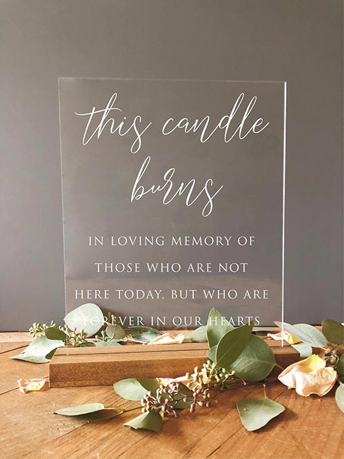 This Candle Burns Memorial Sign