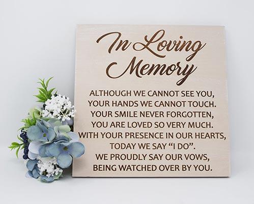 Wooden Memorial Sign