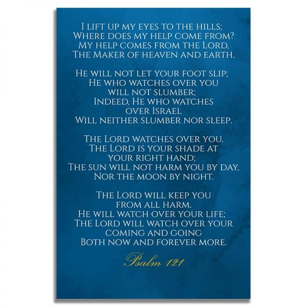 Blue & Gold Branches Design- Back Prayer Card Templates