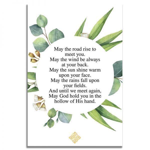 Celtic Cross Template- Back Funeral Prayer Card