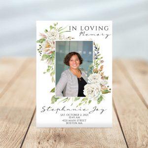 Vintage Floral Frame- Funeral Invitation