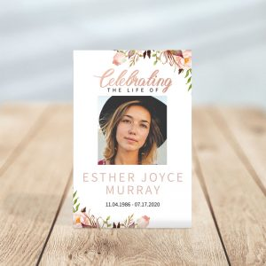Celebrating The Life Of - Funeral Prayer Card