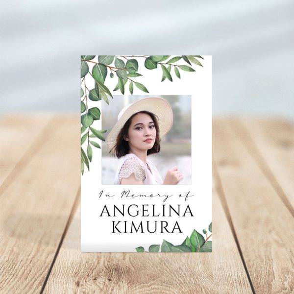 Timeless Green Designed Premium Prayer Card