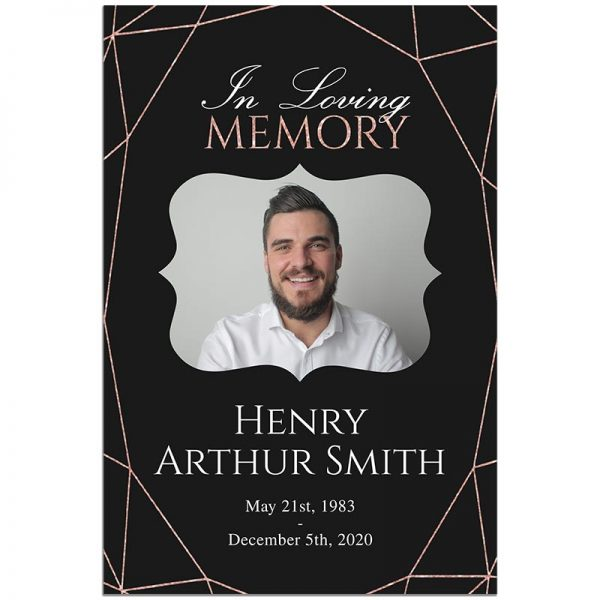 Geometric Elegance- Funeral Welcome Sign Template