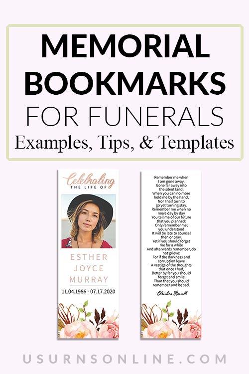 Beautiful Funeral Memorial Bookmarks