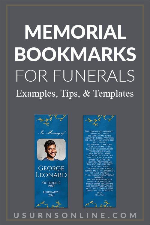 Memorial Bookmarks for Funerals