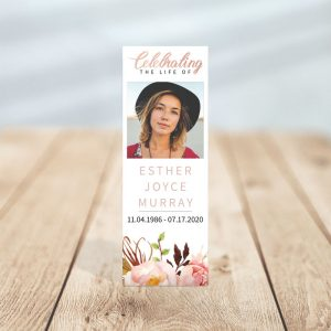 Gentle Florals Memorial Bookmark Template