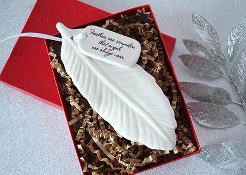 Feather Sympathy Ornaments