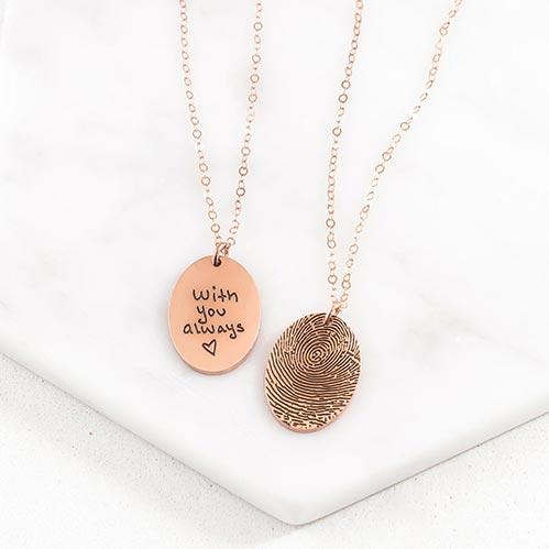 Finger Print Memorial Necklaces