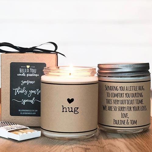 Send a Hug - Candle