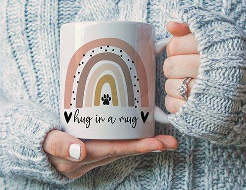Hug in a Mug Paw Print Cups