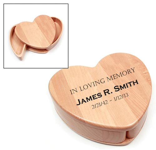 Wooden Keepsake Heart Box