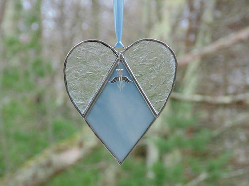 Personalized Stain Glass Hearts