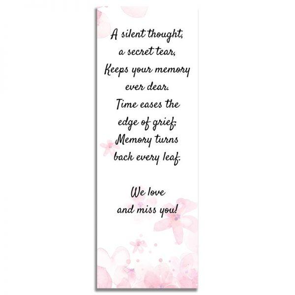 Pink Watercolors- Back Bookmark Template