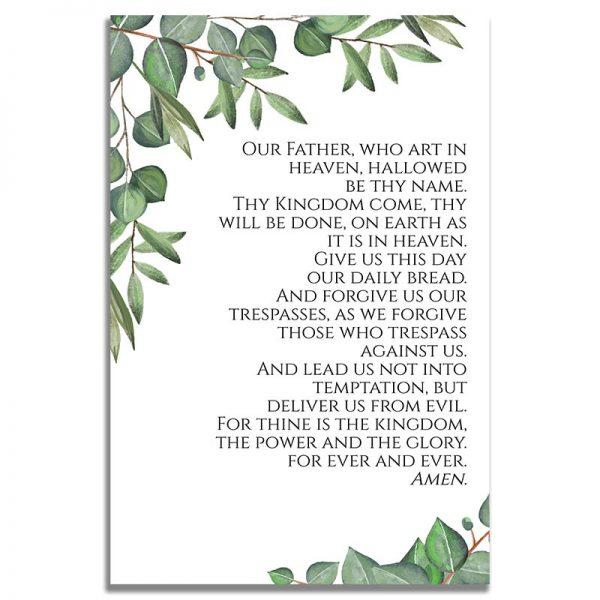 Timeless Green- Funeral Prayer Card Back