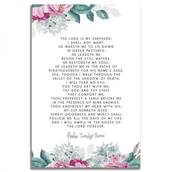 Back - Flora Funeral Prayer Card Template