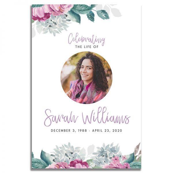 Front - Flora Funeral Prayer Card