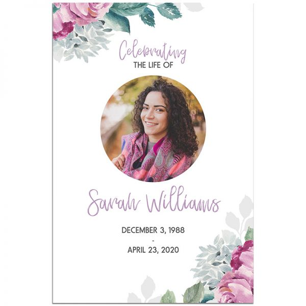 Flora Funeral Welcome Sign Template