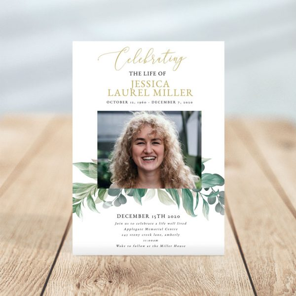Leave Overlay Funeral Invitation Template