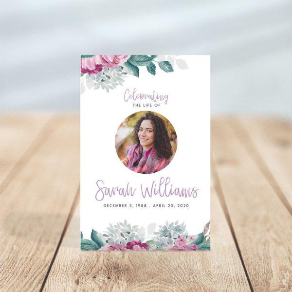 Flora Funeral Prayer Cards